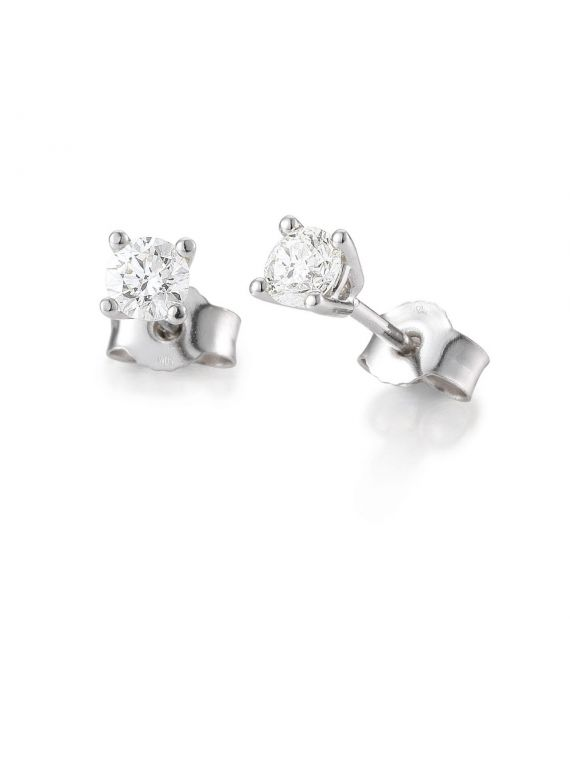 Diamond solitaire earrings BREUNING