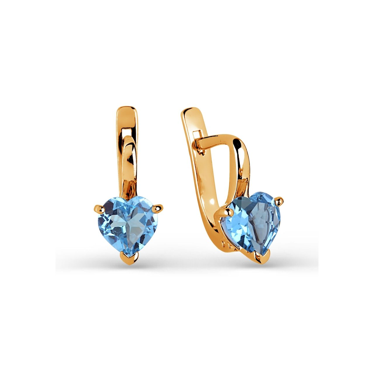product ck minerals topaz earrings pinnacle trillion