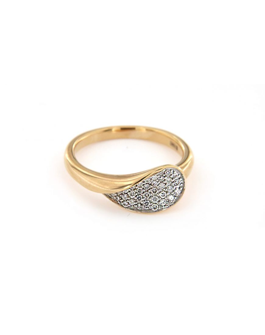 Goldsmith.store - Rose gold ring with diamonds