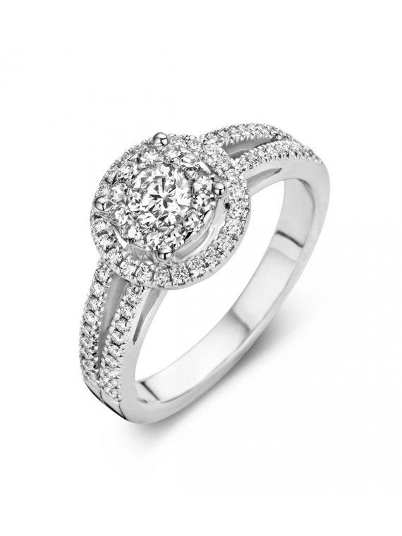 Kuldsõrmus Antonellis teemantidega 17,3