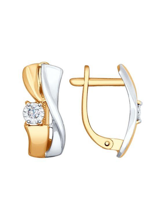 SOKOLOV Kuldkõrvarõngad teemantidega