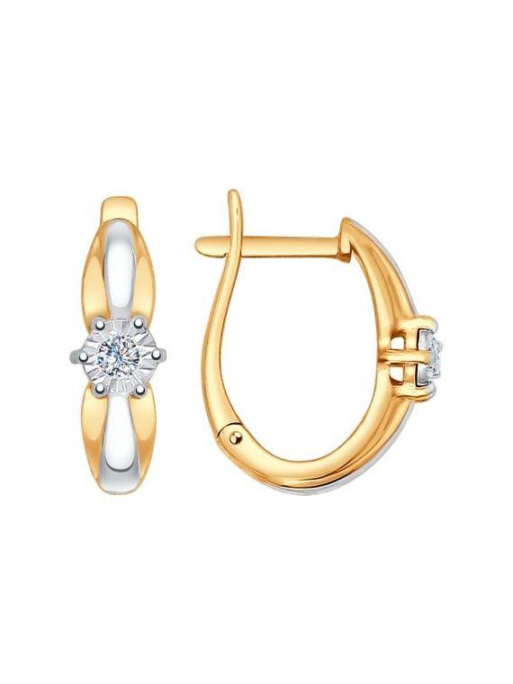 Kuldkõrvarõngad teemantidega