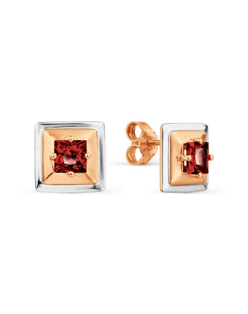 Kuldkõrvarõngad granaatidega GERMAN juveel