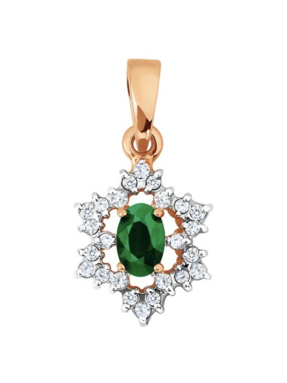 Kuldripats teemantidega ja smaragdiga GERMAN juveel