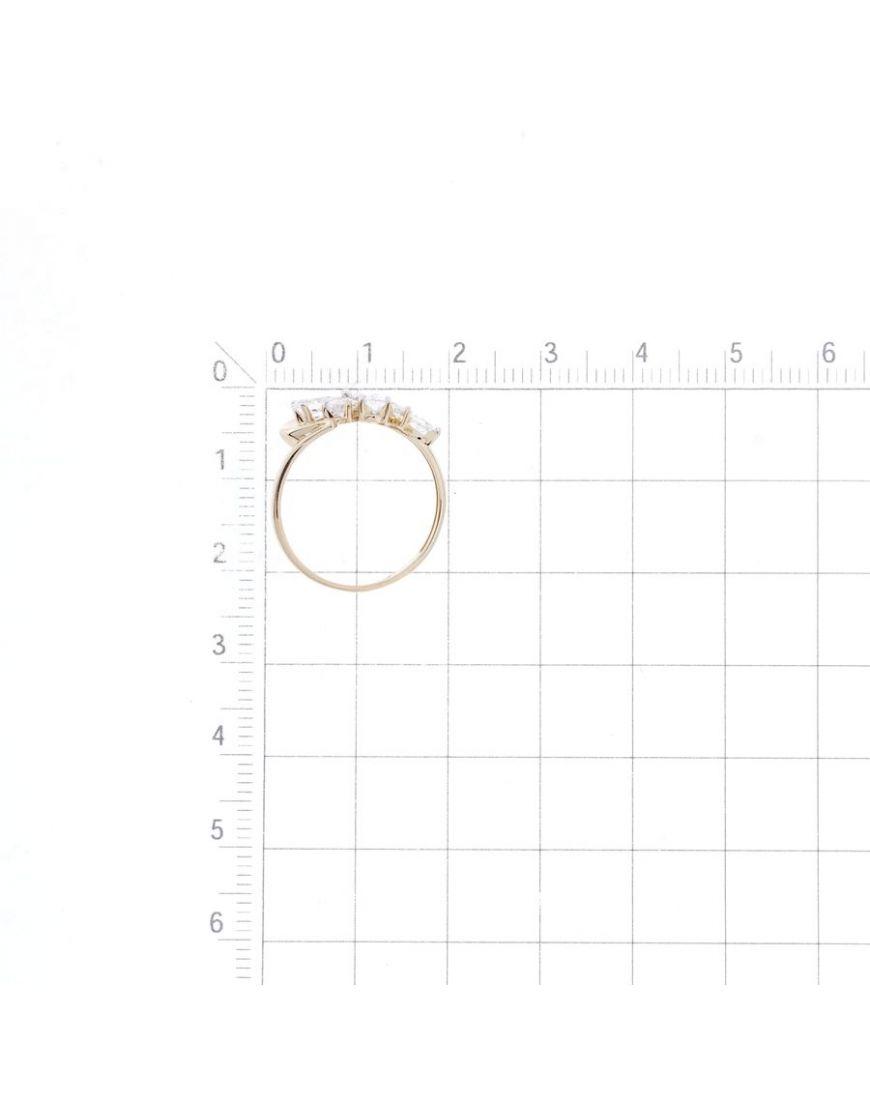 Kuldsõrmus tsirkoonidega GERMAN juveel 17.5