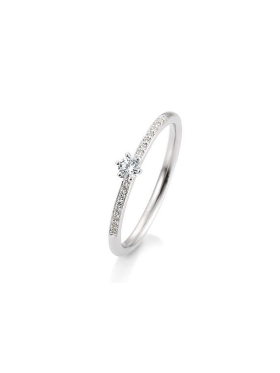 Kuldsõrmus teemantidega BREUNING 0,17Ct