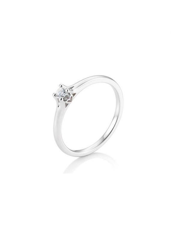 Kuldsõrmus teemantiga BREUNING 0,15Ct