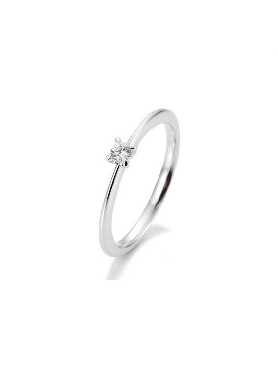 Kuldsõrmus teemantiga BREUNING 0,10Ct