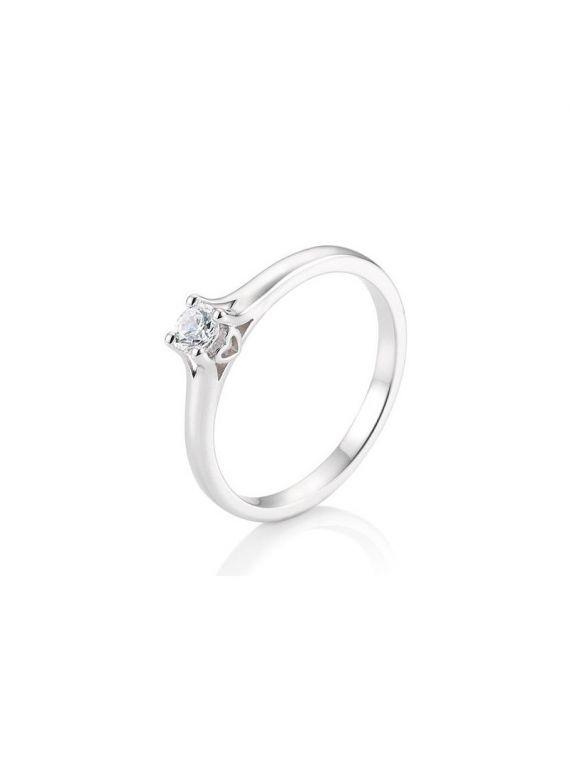 Kuldsõrmus teemantiga BREUNING 0,20Ct