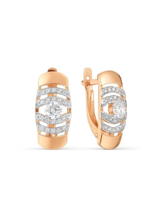 Kuldkõrvarõngad tsirkoonidega GERMAN juveel