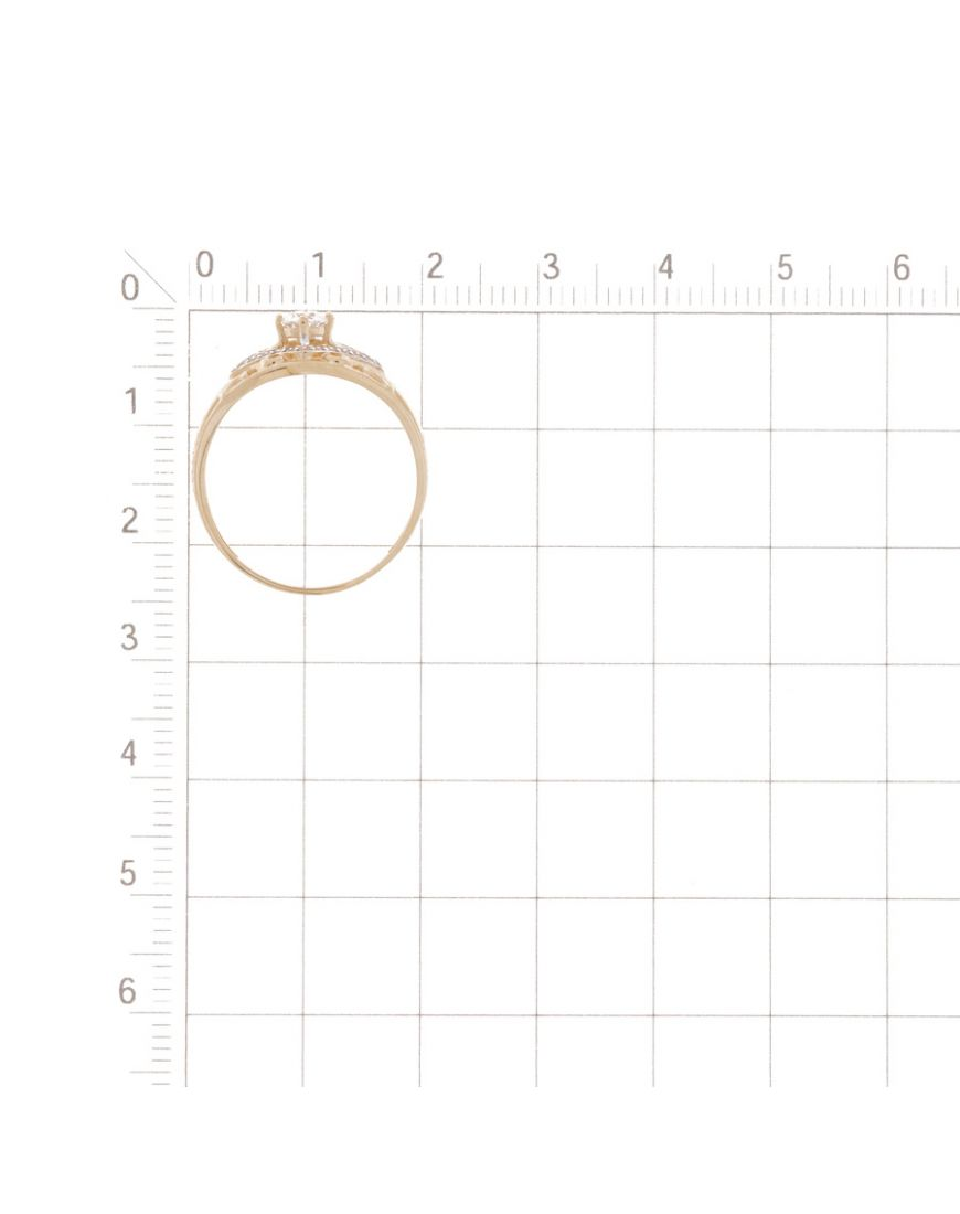 Kuldsõrmus Swarovski tsirkoonidega GERMAN juveel 18.0