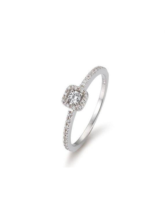 Kuldsõrmus teemantidega BREUNING 0,22Ct