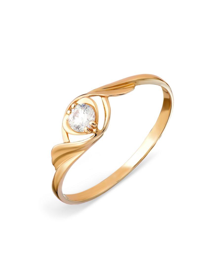 Kuldsõrmus Swarovski tsirkoonidega GERMAN juveel 17.5