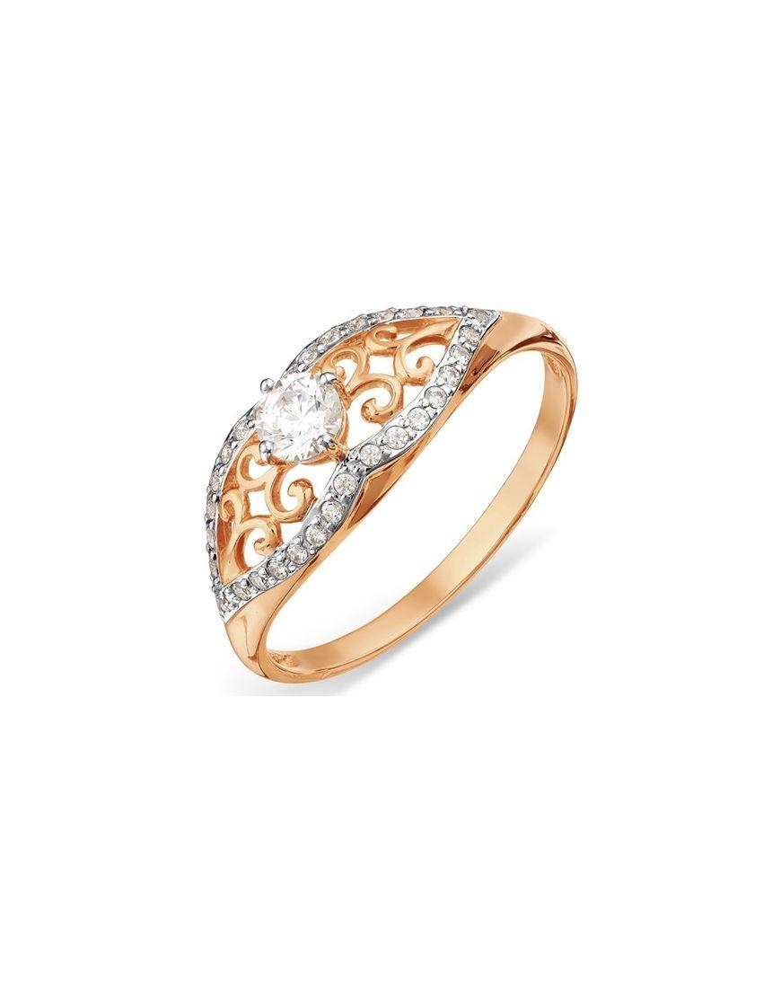 Kuldsõrmus Swarovski tsirkoonidega GERMAN juveel