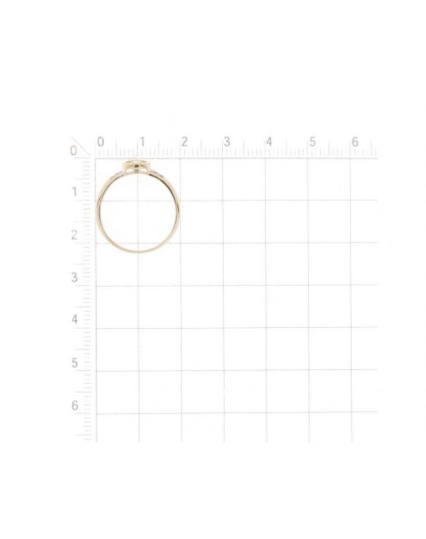 Kuldsõrmus Swarovski tsirkoonidega GERMAN juveel 17.0