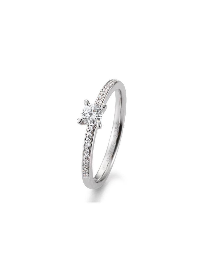 Kuldsõrmus teemantidega BREUNING 0,35Ct