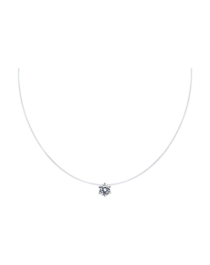 SOKOLOV Silver necklace with zircon 45cm