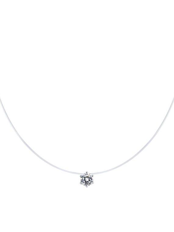 SOKOLOV Silver necklace with zircon