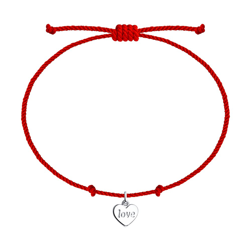 SOKOLOV Red thread bracelet with silver amulet