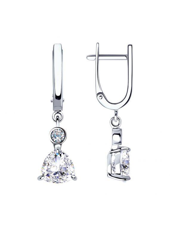 SOKOLOV Sterling Silver Cubic Zirconia Earrings