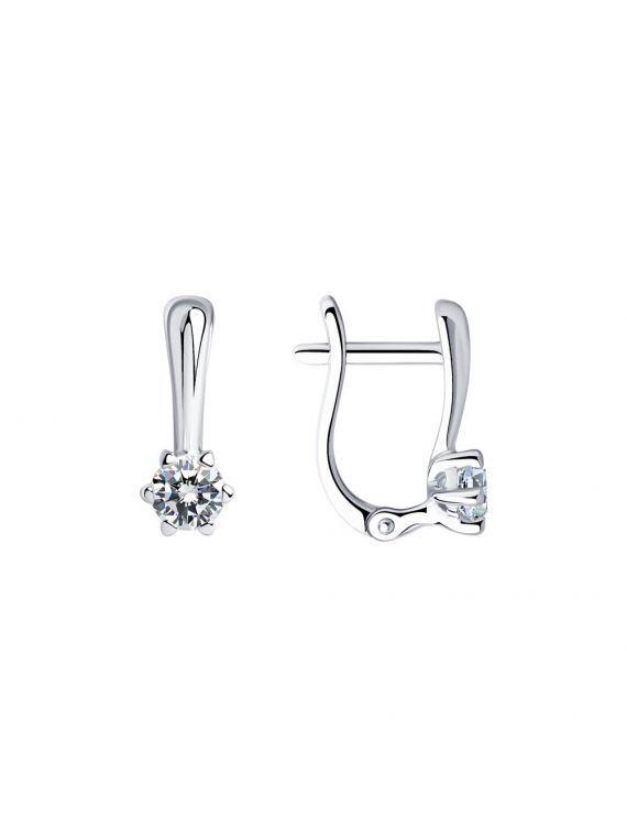 SOKOLOV Sterling silver earrings with Swarovski Crystals