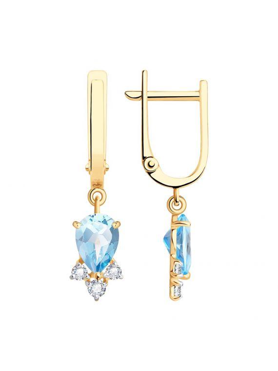 SOKOLOV Sky topaz earrings