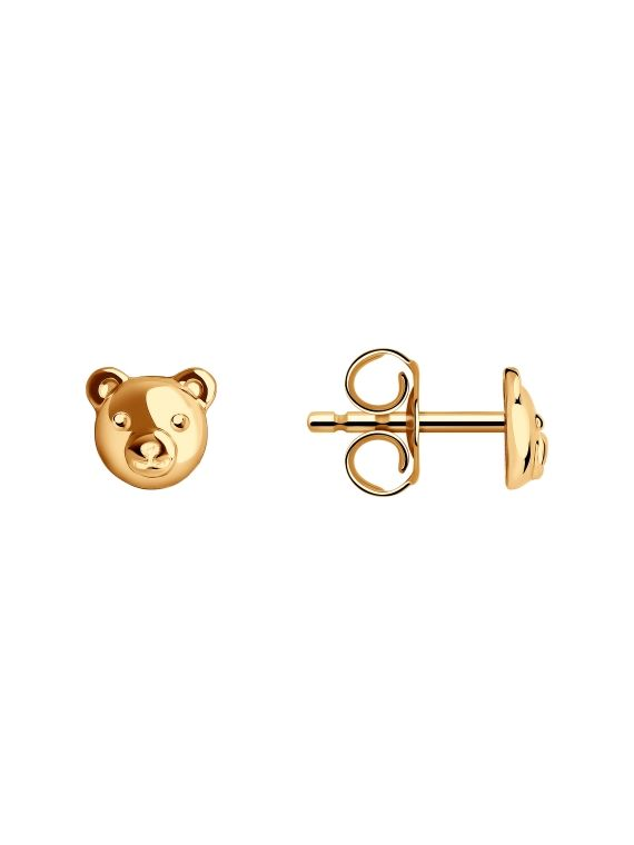 Stud earrings for kids and girls.