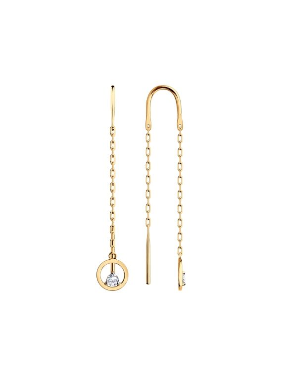 rose gold stylish and modern earrings