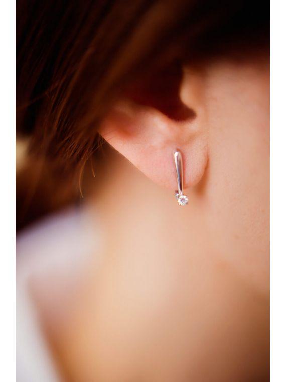 kõrvarõngad teemantidega