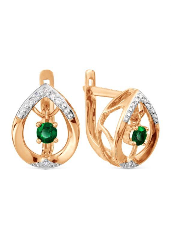 Kõrvarõngad smaragdiga