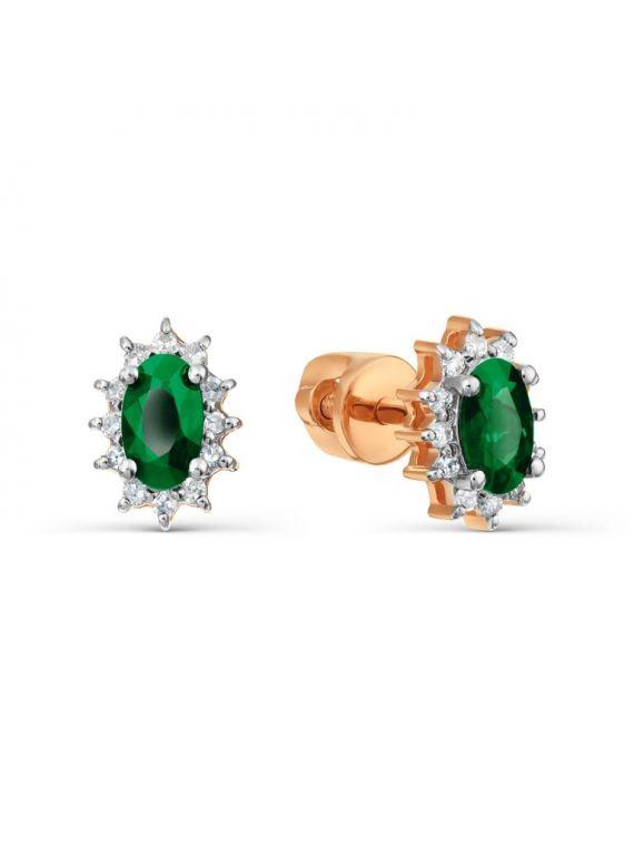 smaragdiga kõrvarõngad